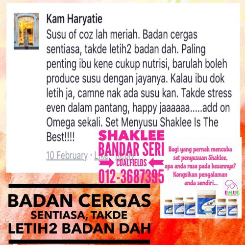 review set penyusuan shaklee kam