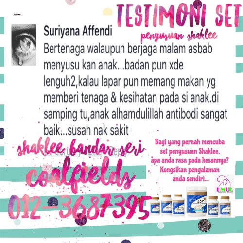 review set penyusuan shaklee suriyana